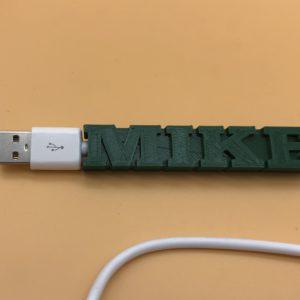 Custom Name Cable Tag